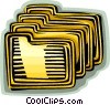 file folders Vector Clip Art image