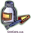 Correction Fluid Vector Clip Art picture