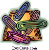 Vector Clip Art graphic  of a Paperclips