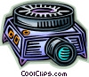 Slide Projectors Vector Clipart graphic