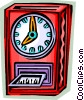 Punch Clocks Vector Clip Art graphic