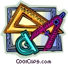 Rulers Vector Clip Art graphic