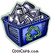Vector Clip Art graphic  of a Blue Boxes or Recycle Box