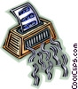 Vector Clip Art image  of a Shredder