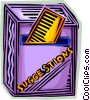 Vector Clip Art image  of a suggestion box