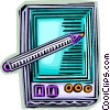 Vector Clipart graphic  of a Personal Organizers Digital