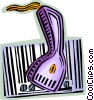 hand scanner Vector Clip Art picture