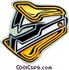 Vector Clip Art graphic  of a Staple Removers