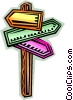 Vector Clipart graphic  of a Street Signs Road Signs