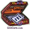 Briefcase with papers Vector Clipart picture