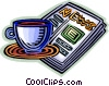 Vector Clip Art image  of a coffee and newspaper