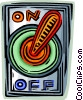 Vector Clip Art image  of a Light Switches