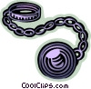 Handcuffs and Leg Irons Vector Clip Art image
