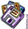 Diskettes Floppy Disks Vector Clipart image