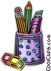 Vector Clipart image  of an Assorted Pens