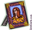 Painting and Frames Vector Clip Art graphic