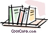 Bookshelves Vector Clipart picture