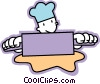Vector Clipart picture  of a Bakers