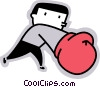 Vector Clip Art picture  of a Boxer sparring
