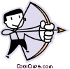 an archer Vector Clip Art graphic