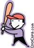 Vector Clipart image  of a baseball player