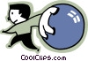 Vector Clipart graphic  of a Bowlers
