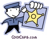Vector Clipart image  of a Officers of the Law and Police