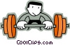 Bodybuilding and Weight lifting Vector Clipart illustration