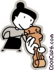 Violinists Vector Clip Art picture