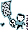 Vector Clip Art graphic  of a Fly Swatter