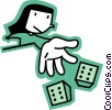 Vector Clip Art graphic  of a Craps