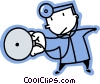 Vector Clipart graphic  of a Doctors