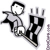 Auto Racing Vector Clipart illustration