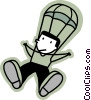 Skydiving Vector Clip Art picture