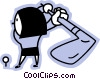 Vector Clipart graphic  of a Golfers
