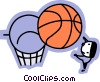 Basketball Players Vector Clipart graphic