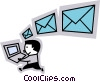 Vector Clip Art picture  of a E-mail