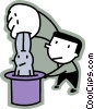 Vector Clip Art graphic  of a Magicians