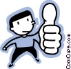 Vector Clipart illustration  of a man giving a thumbs up