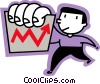 man holding a chart Vector Clipart illustration