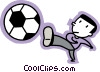 Soccer Players Vector Clipart illustration
