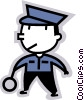 Vector Clip Art graphic  of a police officer