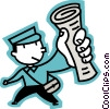 newspaper boy Vector Clip Art graphic