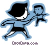 Vector Clipart graphic  of a man and woman shaking hands