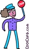 woman Crossing Guards Vector Clip Art picture