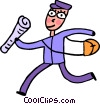 Vector Clip Art graphic  of a Postman  Mailman