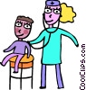 Vector Clipart graphic  of a Doctors with Patients