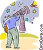 Vector Clipart image  of a Telescopes