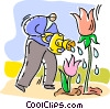 Vector Clip Art graphic  of a Gardeners