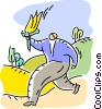 Man carrying Torch Vector Clipart picture